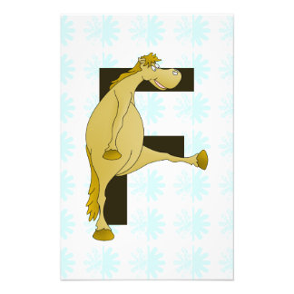 Cute Cartoon Monogram Pony F Art Photo
