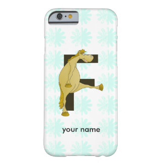 Cute Cartoon Monogram Pony F Barely There iPhone 6 Case