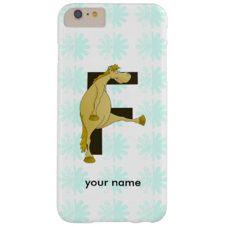 Cute Cartoon Monogram Pony F Barely There iPhone 6 Plus Case