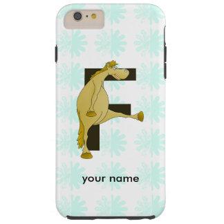 Cute Cartoon Monogram Pony F Tough iPhone 6 Plus Case