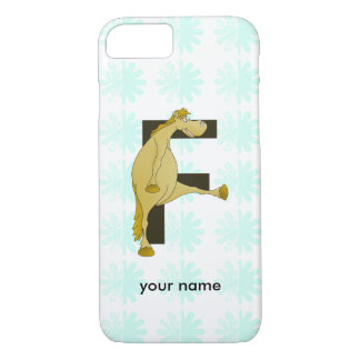 Cute Cartoon Monogram Pony F iPhone 7 Case