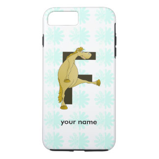 Cute Cartoon Monogram Pony F iPhone 7 Plus Case
