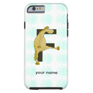 Cute Cartoon Monogram Pony F Tough iPhone 6 Case