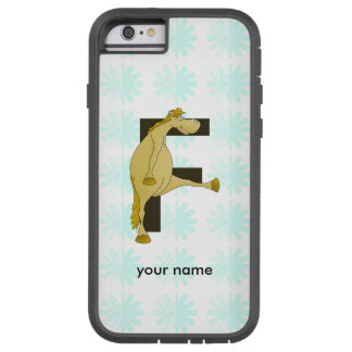 Cute Cartoon Monogram Pony F Tough Xtreme iPhone 6 Case