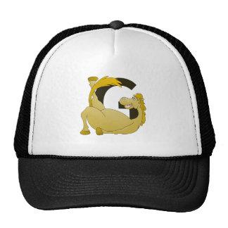 Cute Cartoon Monogram Pony G Trucker Hat