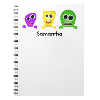 Cute cartoon monsters gang notebooks