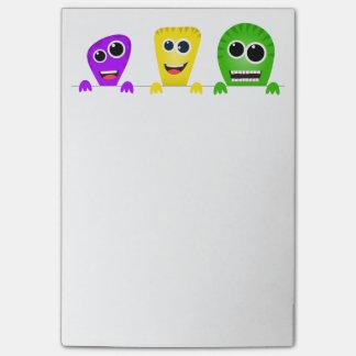 Cute cartoon monsters gang post-it® notes