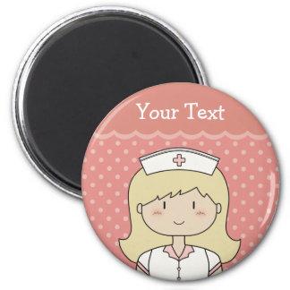 Cute cartoon nurse (blonde) magnet