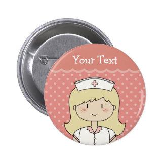 Cute cartoon nurse blonde pins