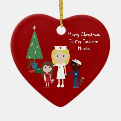 Cute Cartoon Nurse, Children & Christmas Tree Ornaments