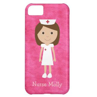 Cute Cartoon Nurse Pink iPhone 5C Case