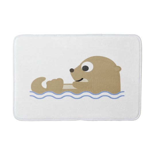 Cute Cartoon Otter Bath Mat