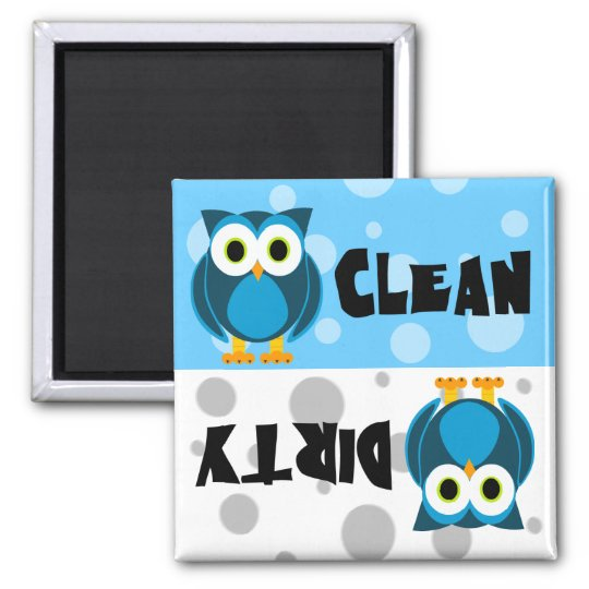 Cute Cartoon Owl Clean / Dirty Dishwasher Magnet