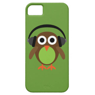 Cute Cartoon Owl DJ With Headphones Barely There iPhone 5 Case