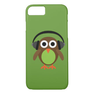 Cute Cartoon Owl DJ With Headphones iPhone 7 Case