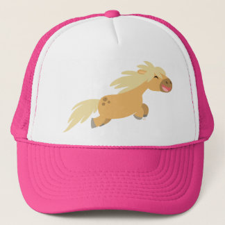Cute Cartoon Palomino Pony Trucker Hat