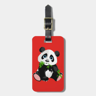 Cute cartoon Panda Bear Luggage Tag