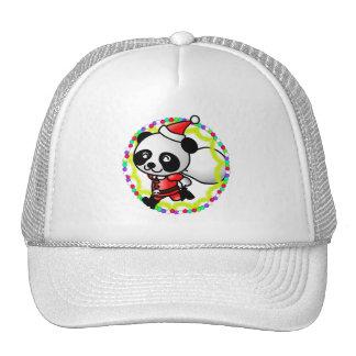 Cute Cartoon Panda Bear Santa Mesh Hats