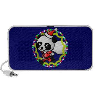 Cute Cartoon Panda Bear Santa Travel Speaker
