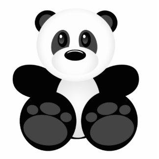 Cute Cartoon Panda Bear Standing Photo Sculpture
