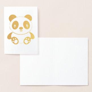 Cute Cartoon Panda Foil Card