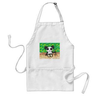 cute cartoon panda standard apron