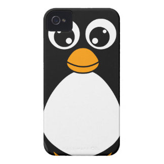 Cute Cartoon Penguin Black and White iPhone 4 Covers