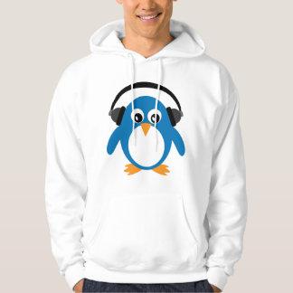 Cute Cartoon Penguin DJ With Headphones Hoodie