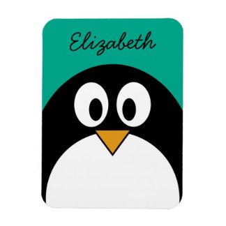 cute cartoon penguin emerald and black magnets