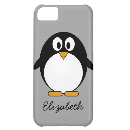 cute cartoon penguin gray case for iPhone 5C