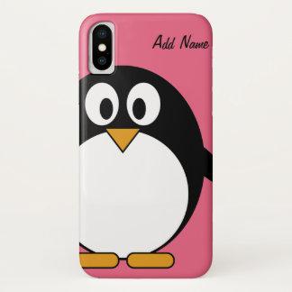 Cute Cartoon Penguin Kawaii Drawing iPhone X Case