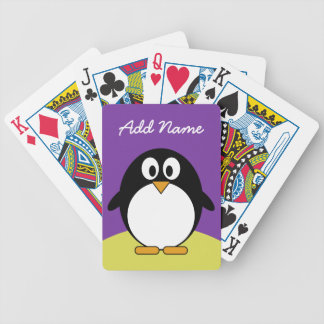 Cute Cartoon Penguin with bright colors Poker Deck