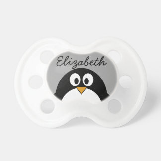 Cute cartoon penguin with gray background dummy