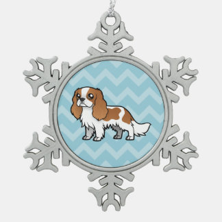 Cute Cartoon Pet Snowflake Pewter Christmas Ornament