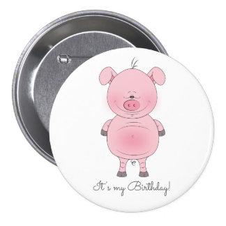 Cute Cartoon Pig 7.5 Cm Round Badge