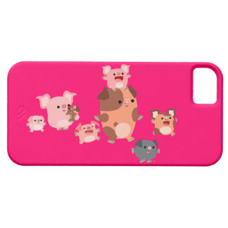 Cute Cartoon Pig Family iPhone 5/5S Case