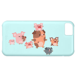 Cute Cartoon Pig Family iPhone 5C Case