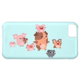 Cute Cartoon Pig Family iPhone 5C Case
