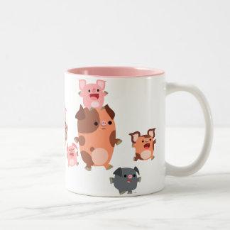 Cute Cartoon Pig Family Mug
