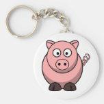 Cute Cartoon Pig Key Chains