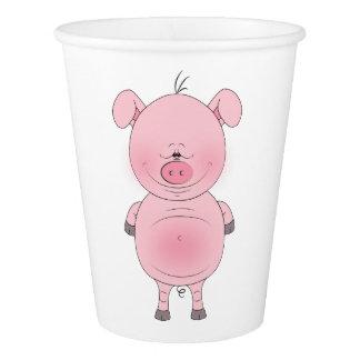 Cute Cartoon Pig Paper Cup