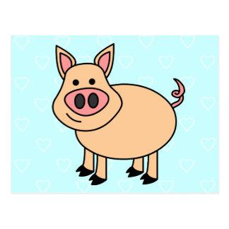 Cute Cartoon Pig Post Cards