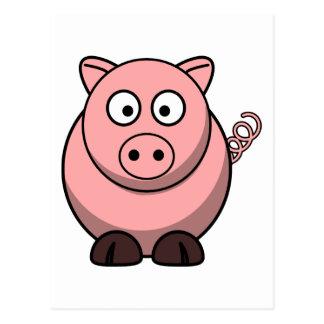 Cute Cartoon Pig Postcards