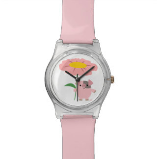 Cute Cartoon Pig With Gift (Pink) 28th May Watch