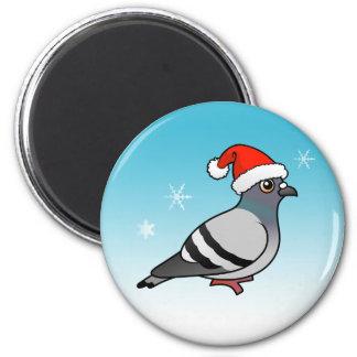Cute Cartoon Pigeon Santa Magnet