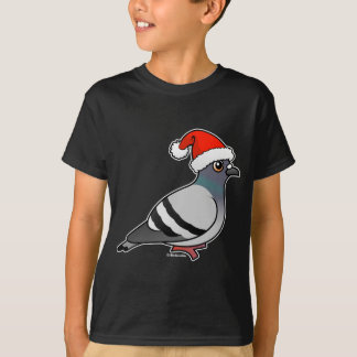 Cute Cartoon Pigeon Santa T-Shirt