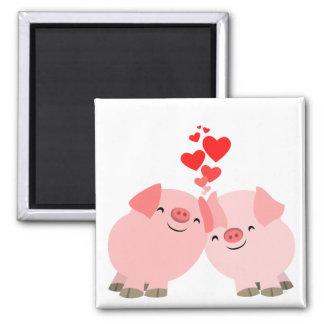 Cute Cartoon Pigs in Love Magnet