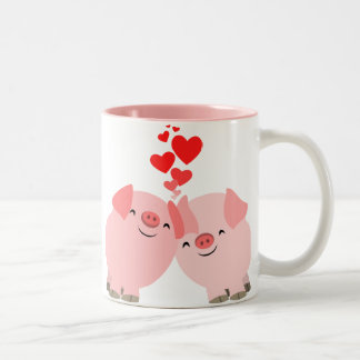 Cute Cartoon Pigs in Love Mug