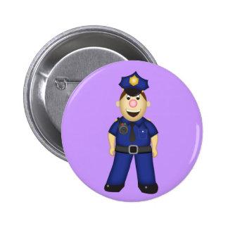 Cute Cartoon Police Officer Pins