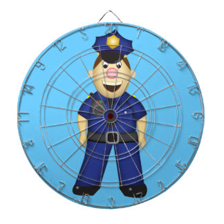 Cute Cartoon Police Officer Dartboard